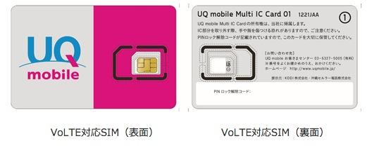 UQmobile_VoLTE専用SIM