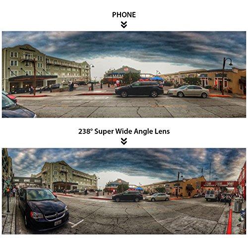 Mozeat スマホ用 超広角レンズ 238° iPhone Android スマートフォン対応 POL-SW01